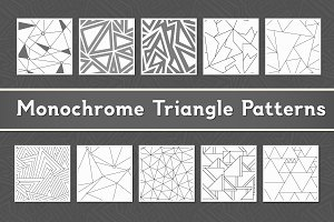 Monochrome Triangle Patterns