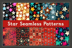 Star Seamless Patterns