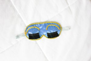 Sleep Mask On Bed