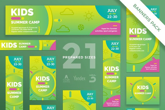 Banners Pack Summer Camp