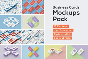 Business Cards Mockup Pack