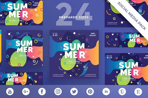 Social Media Pack Summer Camp