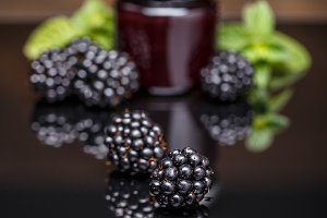 Fresh homemade blackberry