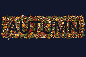 Autumn greeting card template.