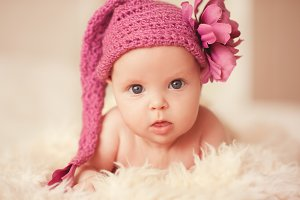 Cute baby closeup