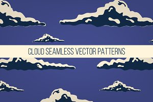 Night sky with clouds pattern