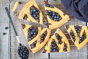 open blueberry tart