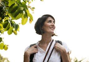 Woman solo traveler