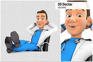 3D Doctor Feet Up on his Desk