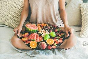 Summer healthy raw vegan breakfast
