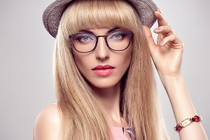 Fashion Portrait Sensual Blond