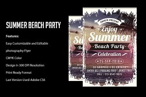 Summer Party Flyers Templates