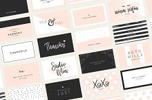 20 Feminine Business Card Templates by  in Business Cards