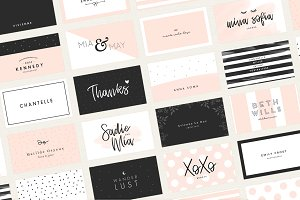 Business card templates creative market 20 feminine business card templates colourmoves