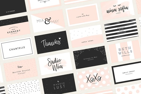 Business Card Templates: Maggie Molloy - 20 Feminine Business Card Templates