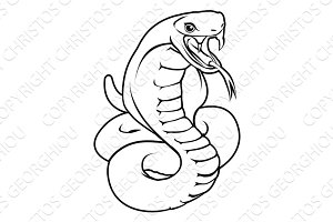 Stylised snake illustration