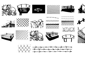 Barbed Wire & Chain Link Vector Pack