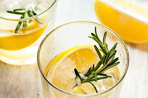 Rosemary lemonade summer drink