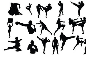 MMA Fighters Vector Pack
