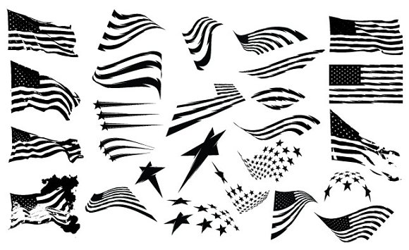 American Flag Vector Pack ~ Illustrations on Creative Market