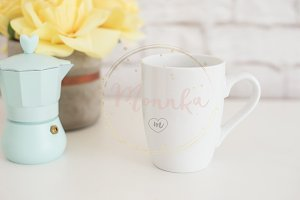 White Mug Mockup Styled Stock Photo