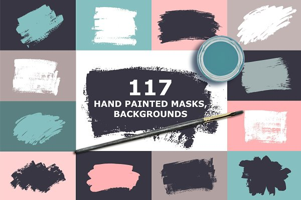 Hand Painted Masks, Backgrounds