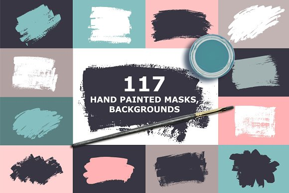 Hand Painted Masks Backgrounds