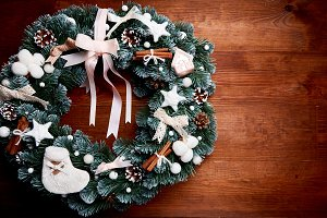 Christmas wreath - top view