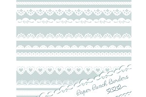 Paper Punch Borders, Lace clip art