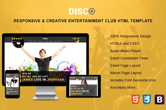 Disco Creative HTML Template