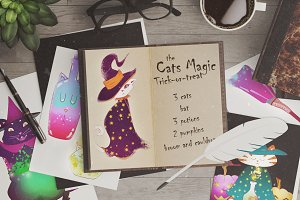 the Cats Magic - halloween cats