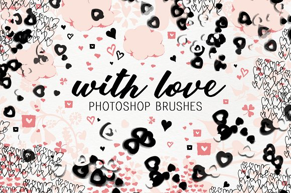 With Love Photoshop Brushes