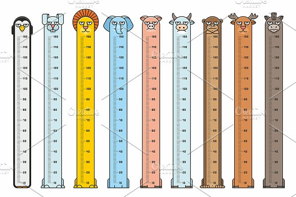 Height Charts Animals Stickers