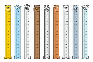 Height charts. Animals Stickers