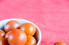 Bowl of fresh cherry tomatoes