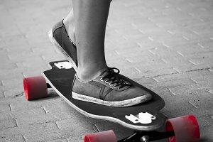 Skateboarder girl