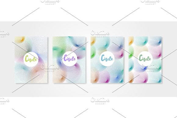 Poster Covers Set With Circle Shapes 2