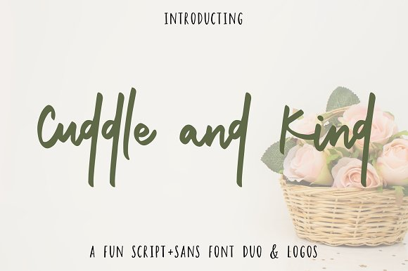 Cuddle And Kind Font Duo Logos