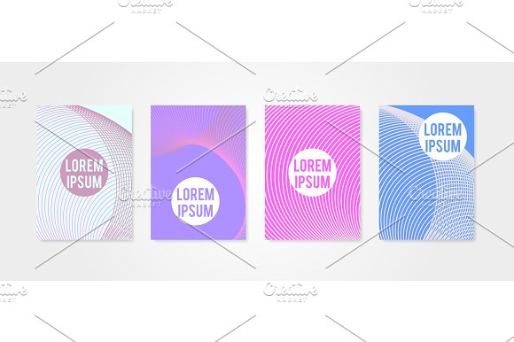Poster Covers Set With Circle Shapes 4