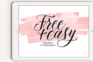 Free+Easy Procreate Lettering Brush