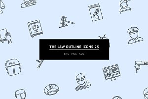 The Law Outline Icons 25