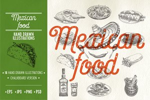 16 Mexican food illustrations