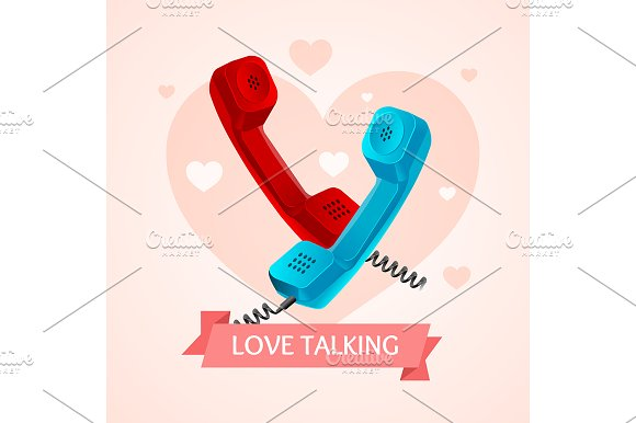 Love Talk Old Phone Concept