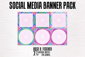 80s Inspired Social Media Banners