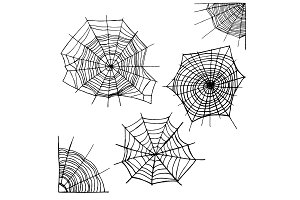 Different Spider Web Set. Vector
