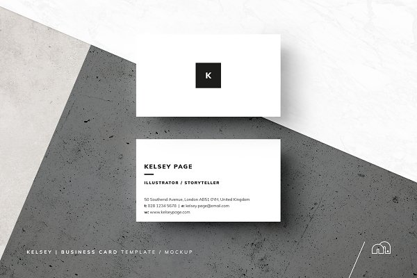 Business card templates creative market pro kelsey business card template cheaphphosting Images