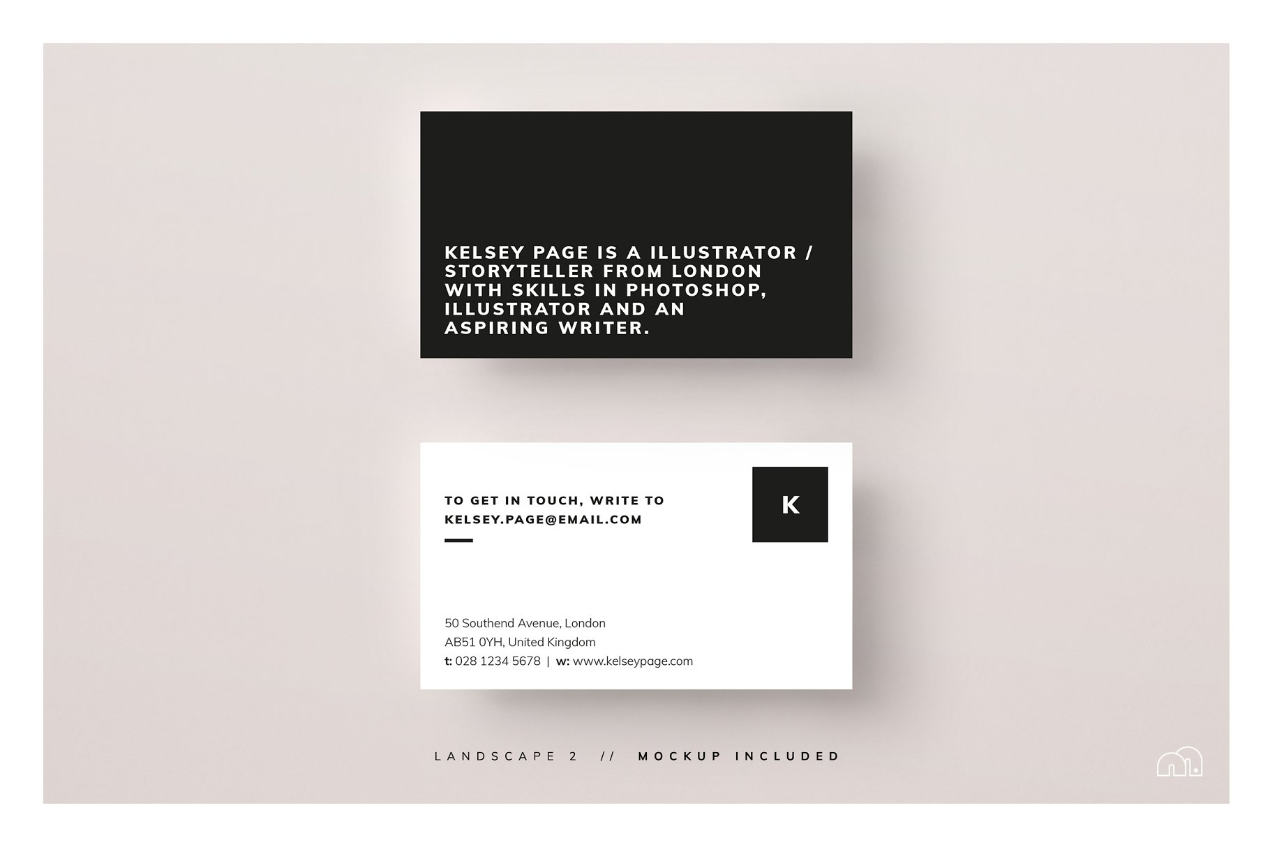 Kelsey - Business Card Template - Business Card Templates | Creative ...