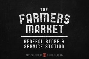 Service Station Vintage Market Font