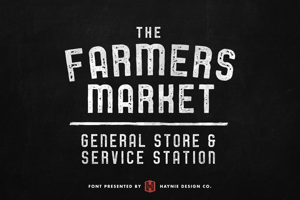 Service Station Vintage Market Font ~ Display Fonts