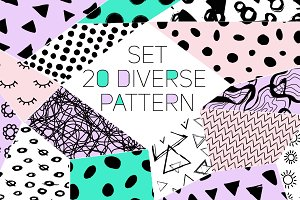 Set 20 black pattern